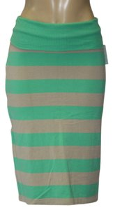 Stem Skirt green/cream
