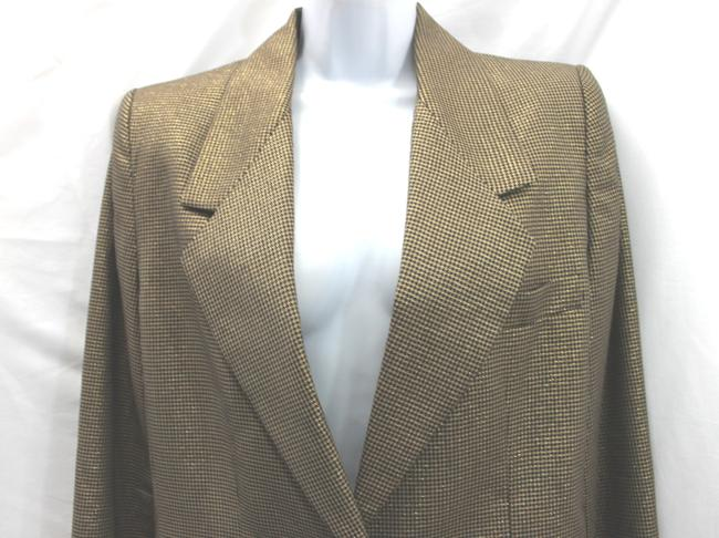 Ellen Tracy LINDA ALLARD ELLEN TRACY GOLD AND BLACK SKIRT SUIT 8