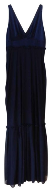 Preload https://item2.tradesy.com/images/vera-wang-navy-v-neck-gown-button-detail-gown-ruffle-long-formal-dress-size-6-s-383296-0-0.jpg?width=400&height=650