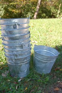 12qt Galvanized Buckets Ceremony Decoration