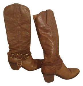 White Mountain Cowboy Leather cognac Boots