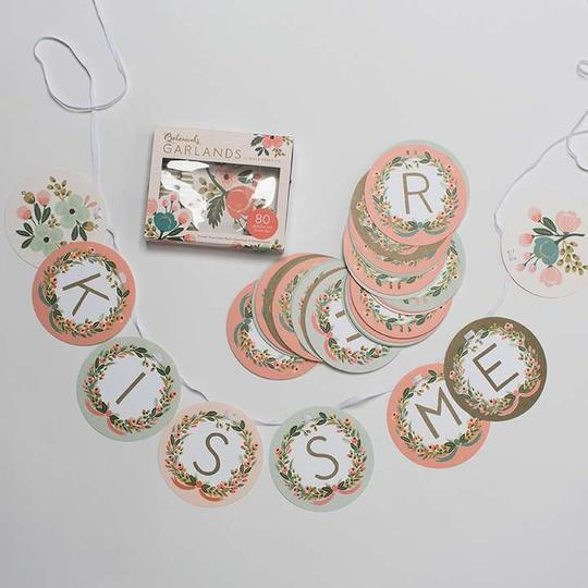Floral Like New Alphabet Garland Reception Decoration