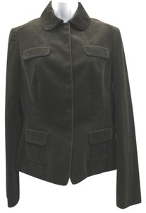 Tahari Dark Brown Corduroy Jacket Blazer