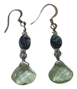 Light green dangle earrings