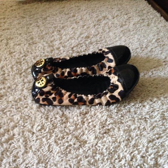 Tory Burch Black With Animal Print Flats
