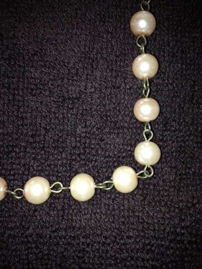 Champagne Pink Magnolia + Pearl Necklace