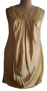BCBGMAXAZRIA Balloon Pockets Embroidered Silk Dress