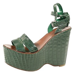 Ralph Lauren Purple Label Green Platforms