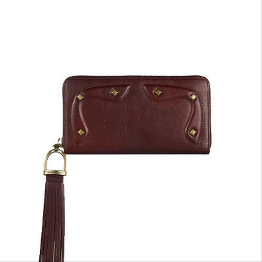Ralph Lauren Collection Ralph Lauren Collection Brown Leather Studded Zip Continental Wallet