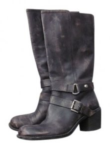 Nine West The Dominick Style #0609 Vintage Look Dark Gray/Brown Boots