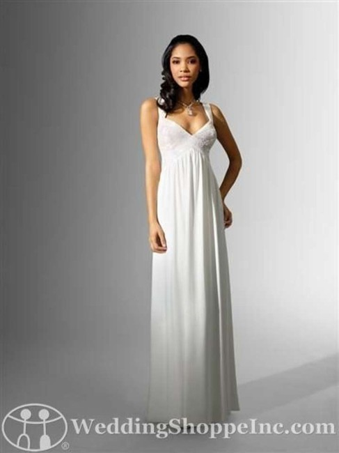 Item - White Jersey Knit 16623 Casual Wedding Dress Size 6 (S)