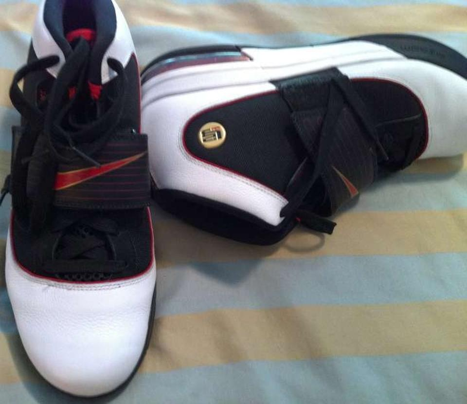 new arrival cdadc ec741 Nike White Black Red New Lebron Soldier Iv and And Sneakers Size US 12 64%  off retail
