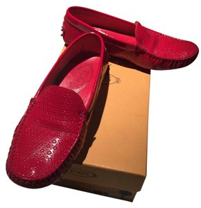 Tod's Ruby Red Flats