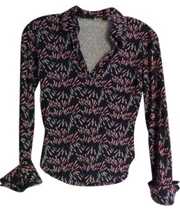Diane von Furstenberg Vintage Top Black/white/red