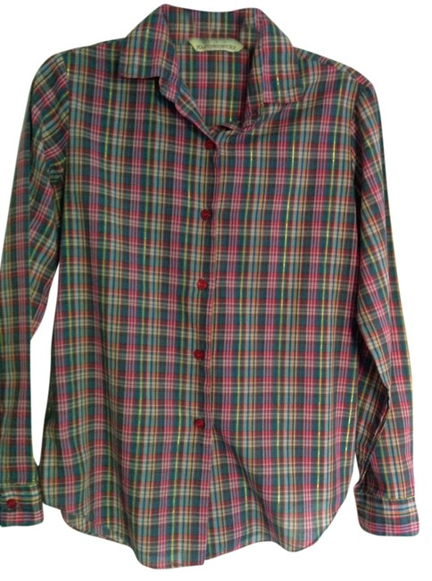 Preload https://item5.tradesy.com/images/macy-s-vintage-plaid-button-down-shirt-3838339-0-0.jpg?width=400&height=650