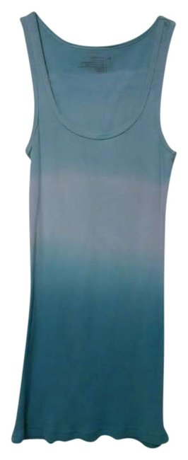 Old Navy Ombre Summer Blue White Fitted Top Blue Ombre