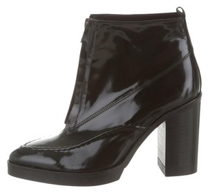 Topshop Urban 1990s Patent Leather Black Boots