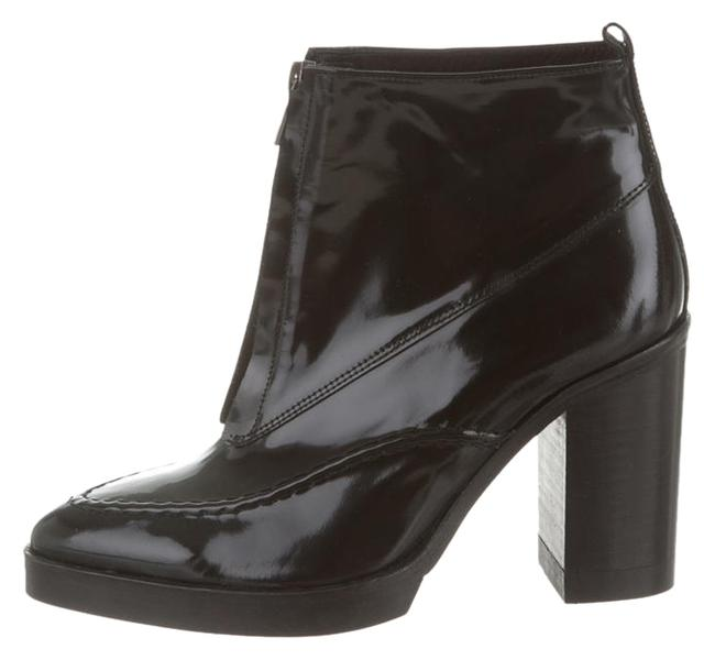 Topshop Black Whistles For Mod Front-zip Ankle Patent Leather Boots/Booties Size US 8 Regular (M, B) Topshop Black Whistles For Mod Front-zip Ankle Patent Leather Boots/Booties Size US 8 Regular (M, B) Image 1