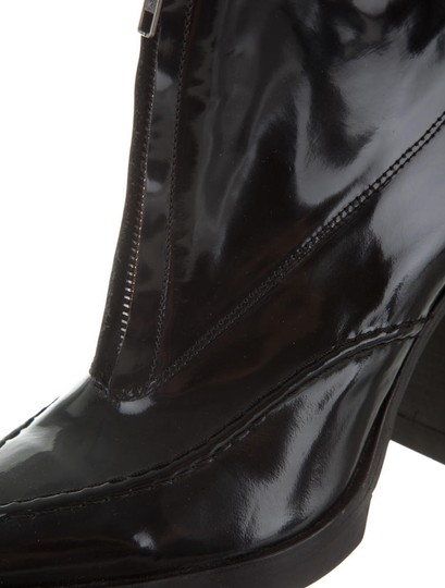 Topshop Urban 1990s Patent Leather Mod Ankle Black Boots