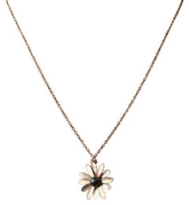 Other Silver daisy pendant necklace with grey pearl