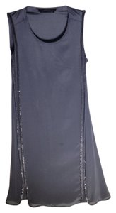 AllSaints Embellished Silk Shift Dress
