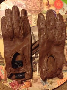 H&M H&M Brown Leather Driving Gloves