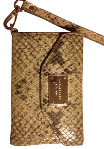 Michael Kors Snake Print Leather iPhone 3 Phone Case/Wallet