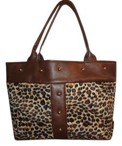 Handmade Tote in Leopard