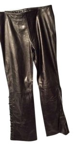 MAK ZEE Straight Pants BLACK LADHER