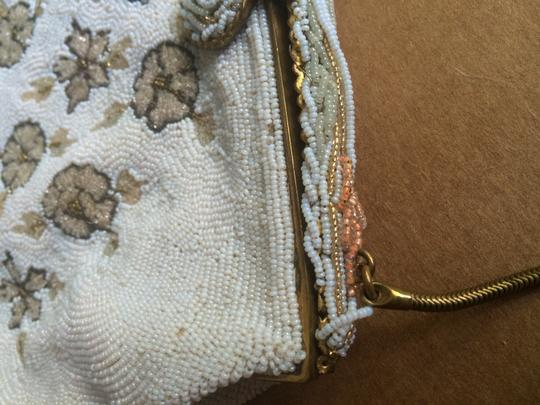 Leo Miller Vintage Collectible Handmade France Satchel in Beaded White