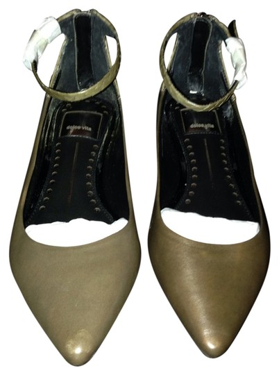 Dolce Vita Ankle Strap Pointed Toe Olive Flats