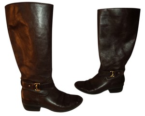 Ralph Lauren Equestrian Motorcycle Brown Boots