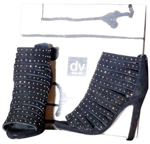 Dolce Vita Dress Sandal Sandal High Heels Suede Studded Black Suede Boots