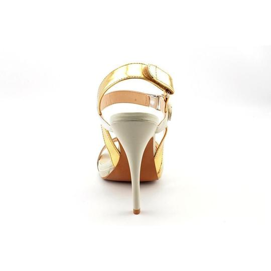 Luxury Rebel 4.5' Leather gold and silver Pumps