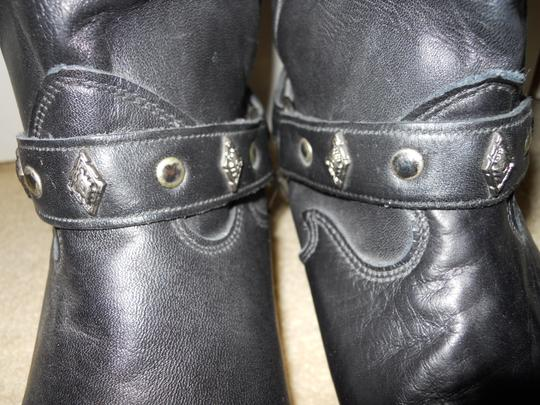 Code West Leather Western Studded black Boots