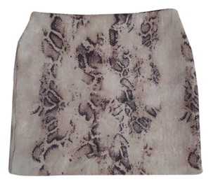 Zio Mini Skirt white sequin snakeskin