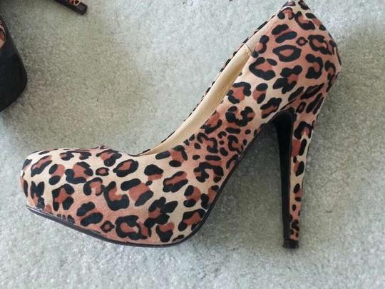 Qupid Hidden Platform Leopard Pumps