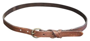 Abercrombie & Fitch A&F Hollister Brown Genuine Leather Belt w/ Brass Hardware