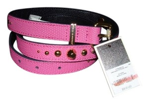 Juicy Couture JUICY COUTURE PINK EMBOSSED LEATHER STUDDED BELT YTRUB214 SIZE L $58