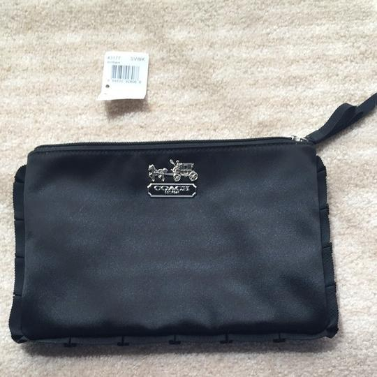Coach Satin Makeup Black Clutch