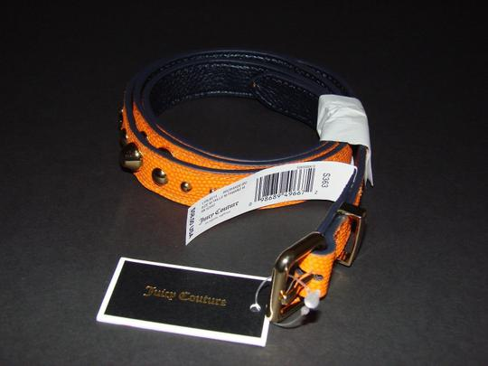 Juicy Couture JUICY COUTURE ORANGE EMBOSSED LEATHER STUDDED BELT SIZE M $ 58 YTRUB214
