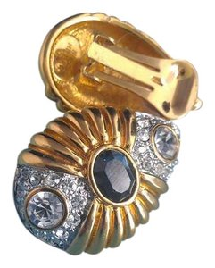 Nolan Miller Glamourous gold and sapphire clip on earrings by Nolan Miller