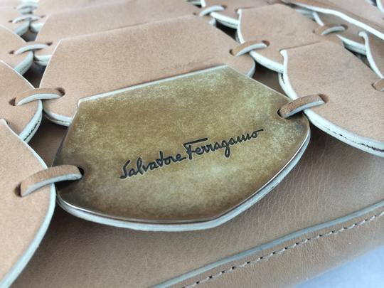 Salvatore Ferragamo Unique Aged Metal Link Shoulder Bag