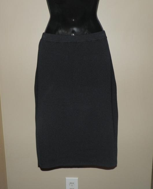 Grace Stretchy Pencil Sweater Elastic Waist Skirt Black