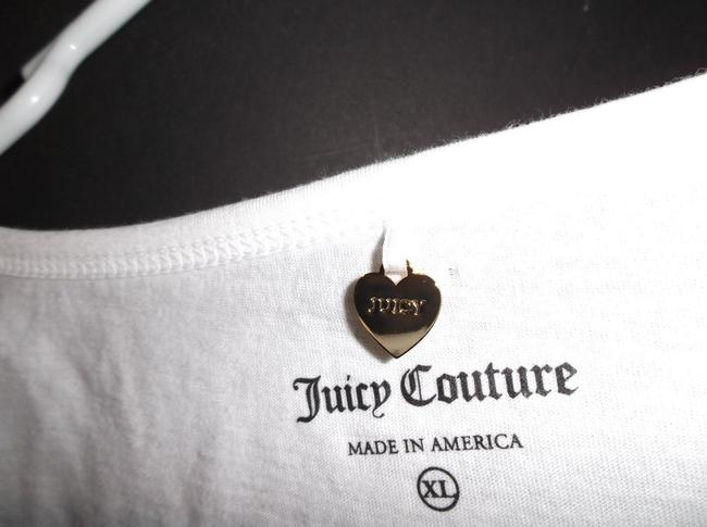 Juicy Couture JUICY COUTURE WHITE COTTON I DREAM OF JUICY INTIMATES TOP XL $38 # 9JMS1646