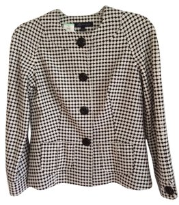 AK Anne Klein Black & White Check Jacket