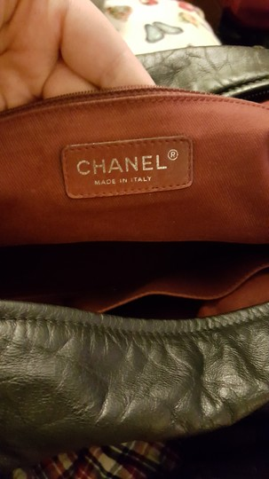 Chanel Leather Bowling Satchel in Black