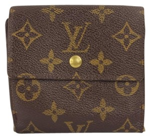 Louis Vuitton Louis Vuitton Monogram Snap Square Flap Wallet coin Purse LVAV107