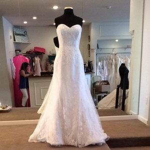Maggie Sottero Ivory Lace Wedding Dress Size 12 (L)