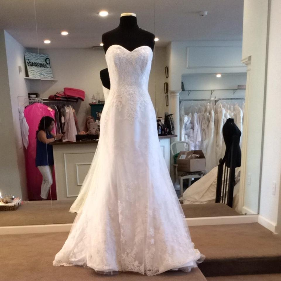 Maggie Sottero Lace Wedding Gown: Maggie Sottero Ivory Lace Wedding Dress Size 12 (L)